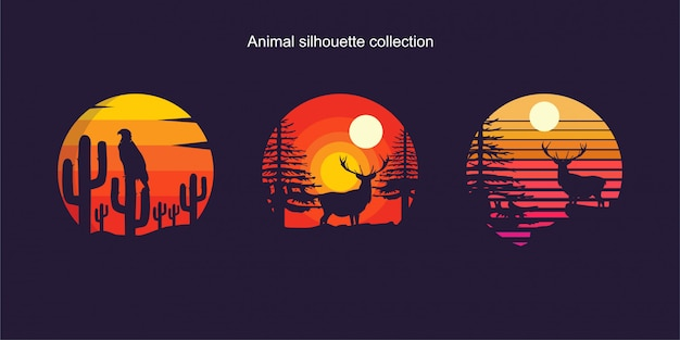 Animal silhouette collection