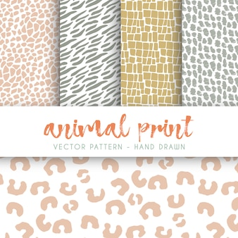 Animal stains pattern collection