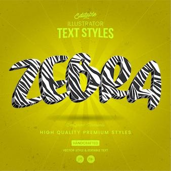 Animal text style zebra