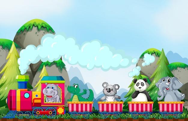 Animal and train