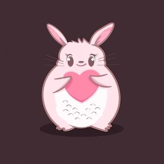 Животное с сердечной любовью