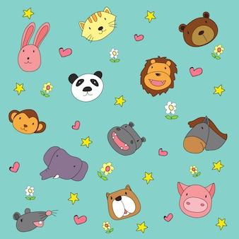 Animals background design