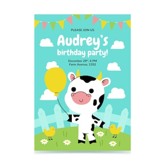 동물 생일 초대장 서식 파일