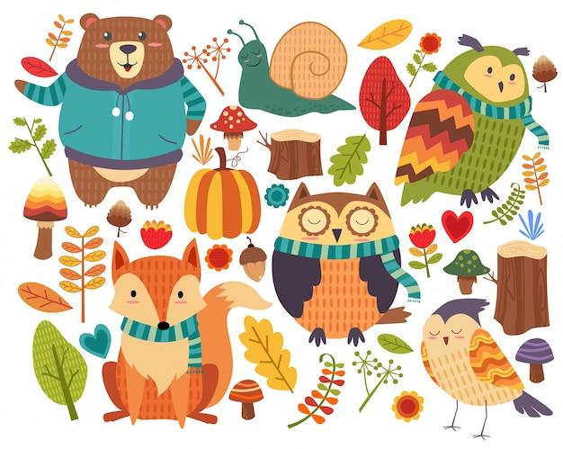 Animals cartoon forest