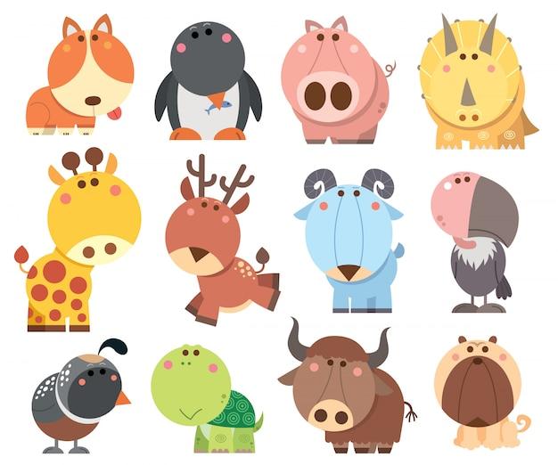 Коллекция мультфильмов животных
