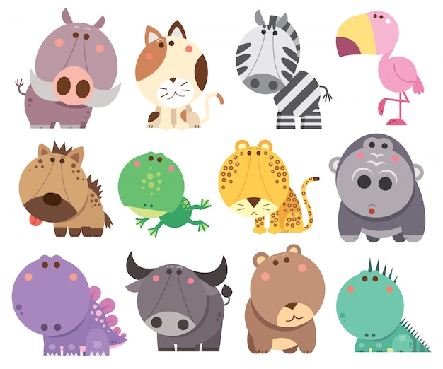 Animals cartoons collection