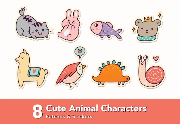 Animals character sticker