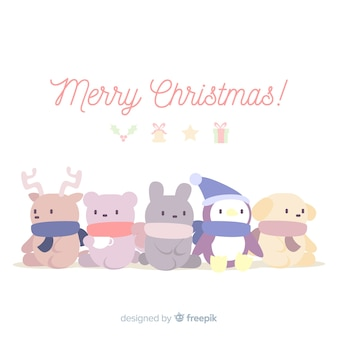 Animals in christmas