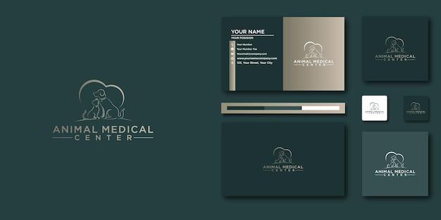 Медицинский логотип клиники животных