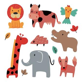 Animals collection vector design
