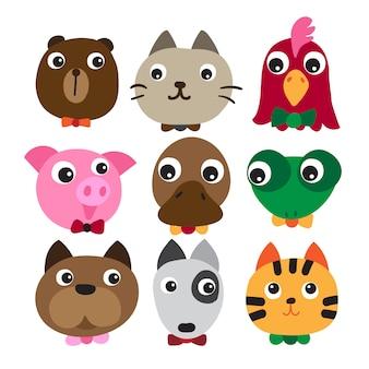 Animals head character design