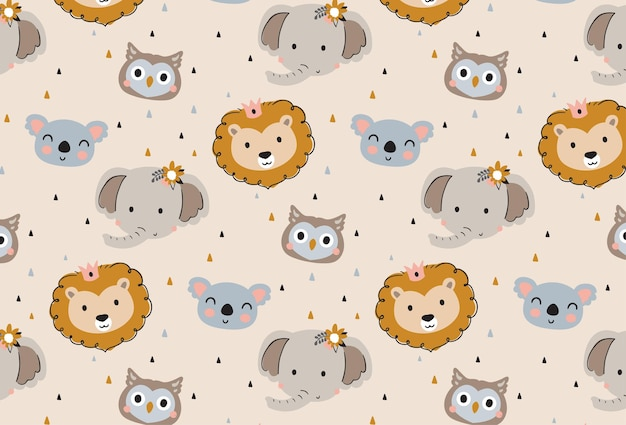 Animals head pattern