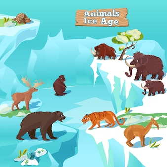 Animals ice age composition