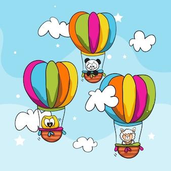 Животные на воздушном шаре