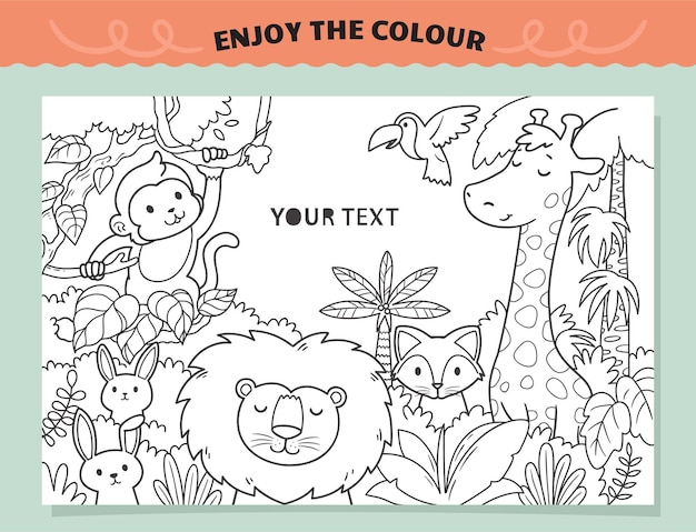 Animals kingdom coloring for kids