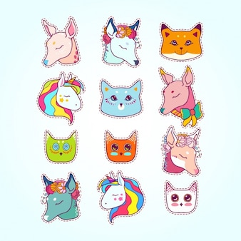 Animals labels collection