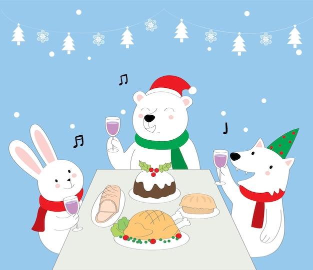 Животные на рождество