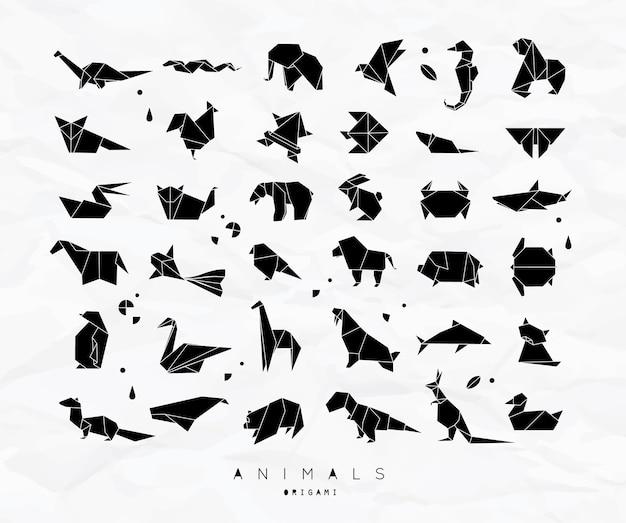 동물 종이 접기 세트