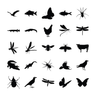 Animals pictograms collection