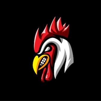 Animals rooster logo sport style