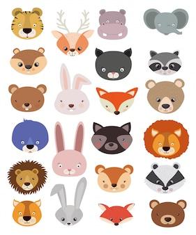 Набор животных в плоском стиле