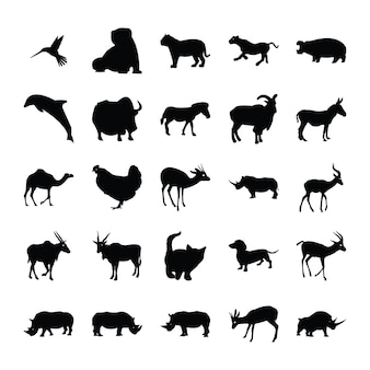動物シルエットバンドル