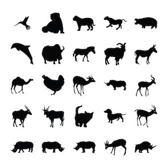 Animals silhouette bundle