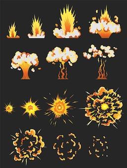 爆発効果のゲームのアニメーション