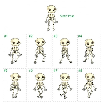 Animation of skeleton