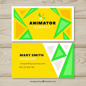 Animator business card