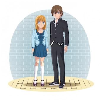 Anime couple manga cartoon