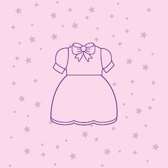 Значок аниме платье костюм на розовом фоне