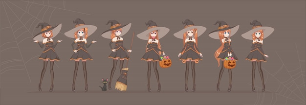 Anime manga girl cartoon characters