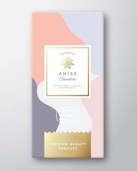 Anise chocolate label.