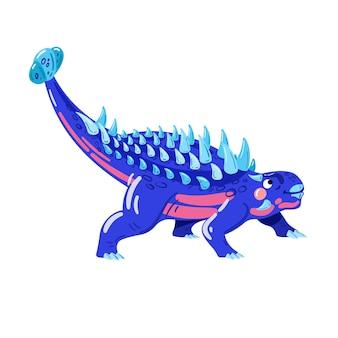 Анкилозавр векторные иллюстрации искусство векторных динозавров синий динозавр с шипами на спине