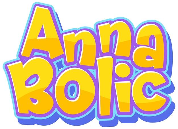 Disegno del testo del logo anna bolic