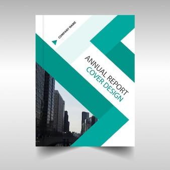 Зеленый абстрактного отчет annaul обложка книги