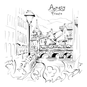 Анси, альпийская венеция, франция.