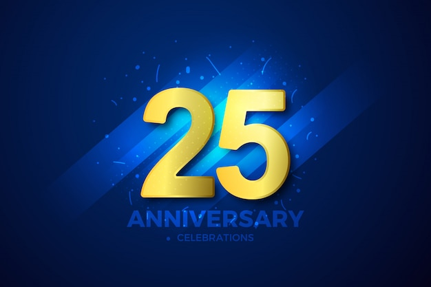 Anniversary background golden sign