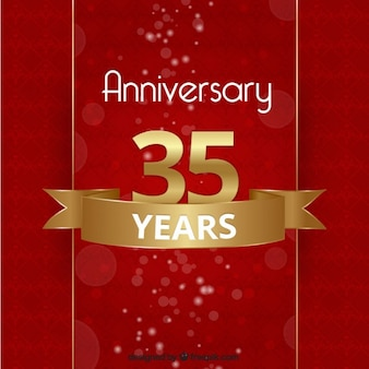 Anniversary background in red and golden color