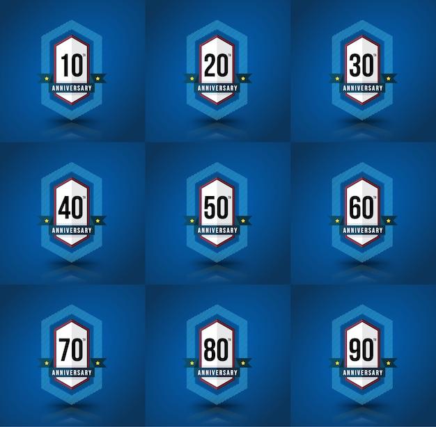 Anniversary badge set