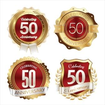. юбилейные значки. набор из четырех роскошных юбилейных значков.