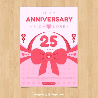 Anniversary card with pink elements