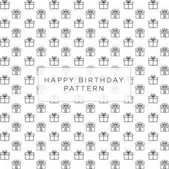 Anniversary celebration gift pattern background design
