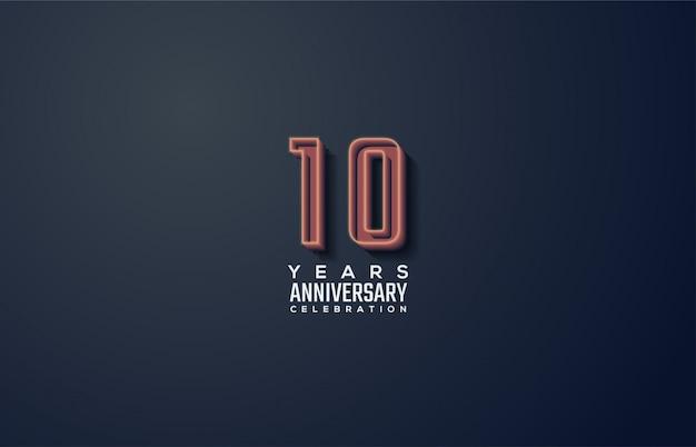 Празднование годовщины с выдающимися худыми фигурами.