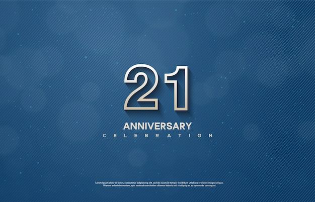 얇은 흰색 숫자로 기념일을 축하합니다.