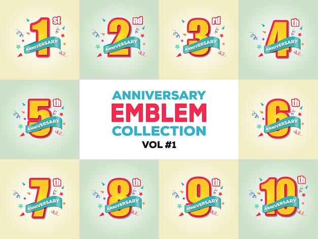 Anniversary emblem collection