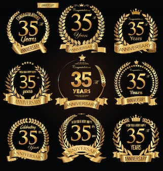 Anniversary golden badge