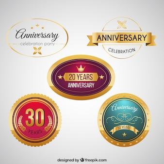 Коллекция годовщина этикетки