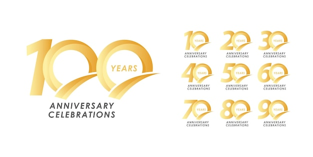 Anniversary logo colletions template